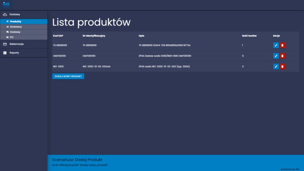 Aplikacja webowa - Material Designe